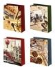 Сумка подарочная бумажная 12*15 лам матовая микс Мужская Ч04346, 04347, 04348, 04349